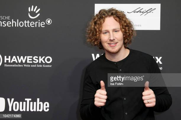 German singer Michael Schulte attends the YouTube Goldene Kamera Digital Award at Kraftwerk Mitte on September 27 2018 in Berlin Germany