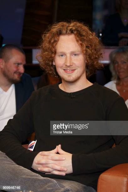 German singer Michael Schulte during the NDR Talk Show on May 18 2018 in Hamburg Germany