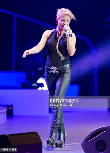 German Singer Michelle during her performance on stage in Festhalle on November 1 2013 in Frankfurt Germany