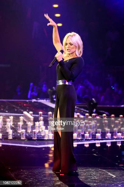 German singer Michelle during the television show 'Schlagerchampions Das grosse Fest der Besten' at Velodrom on January 12 2019 in Berlin Germany
