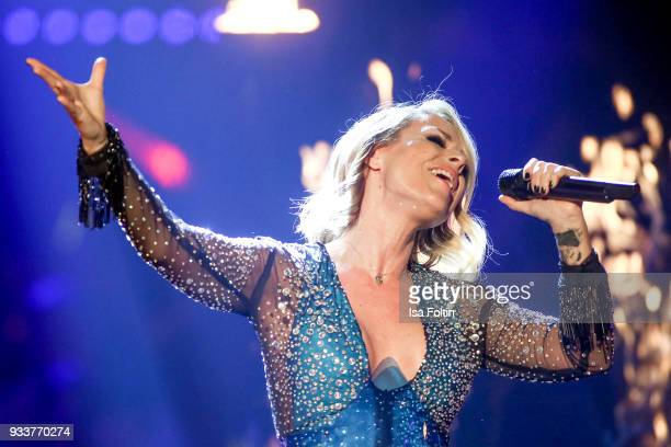 German singer Michelle during the tv show 'Heimlich Die grosse SchlagerUeberraschung' on March 17 2018 in Munich Germany