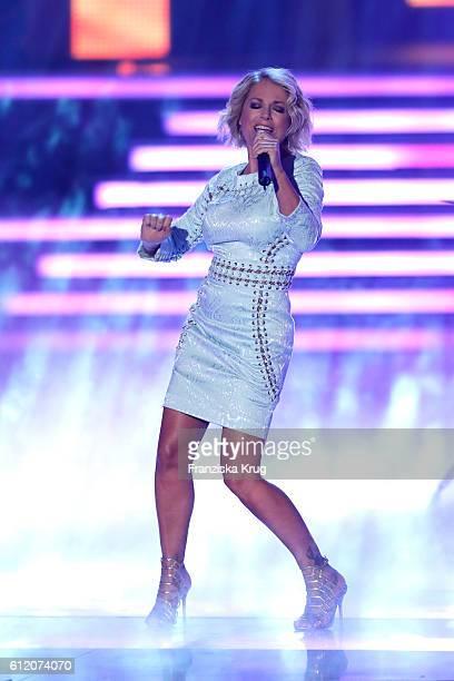 German singer Michelle during the tv show 'Willkommen bei Carmen Nebel' at Velodrom on October 1 2016 in Berlin Germany