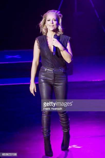 German singer Michelle performs live during a concert at the Friedrichstadtpalast on March 15 2017 in Berlin Germany