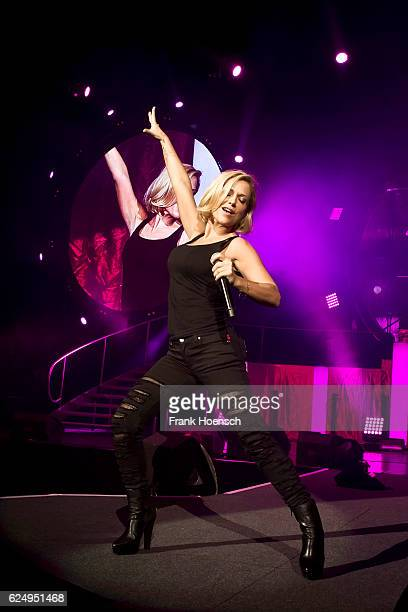 German singer Michelle performs live during 'Die Schlagernacht des Jahres' at the MercedesBenz Arena on November 19 2016 in Berlin Germany