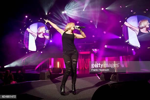 German singer Michelle performs live during 'Die Schlagernacht des Jahres' at the MercedesBenz Arena on November 19 2016 in Berlin Germany