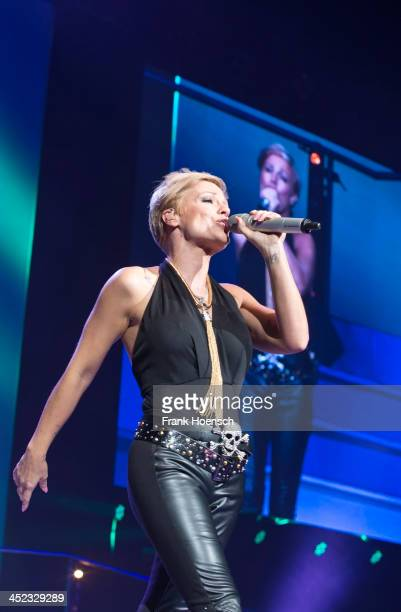German singer Michelle performs live during the 'Schlagernacht des Jahres' at the O2 World on November 23 2013 in Berlin Germany