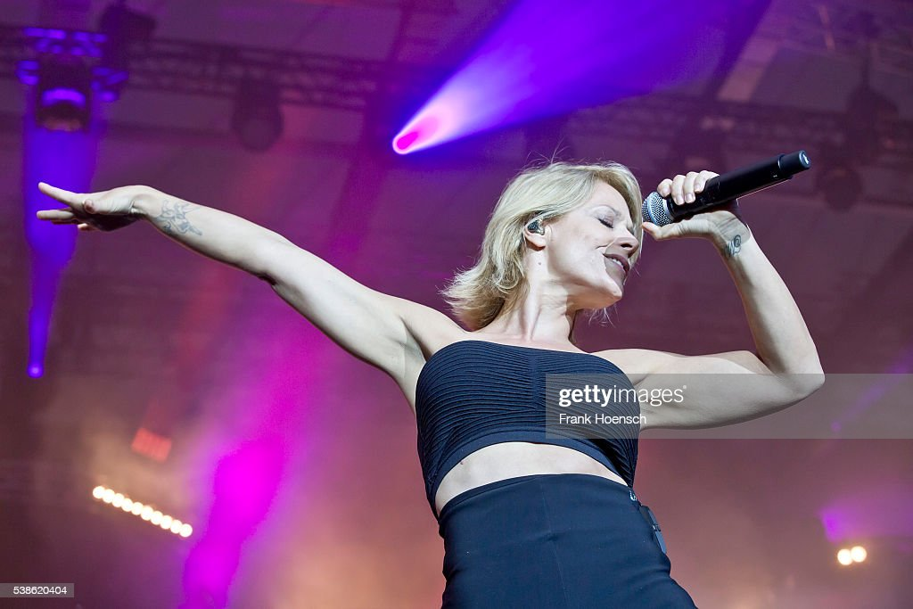 German singer Michelle performs live during the Schlagernacht des Jahres at the Waldbuehne on June 4, 2016 in Berlin, Germany.