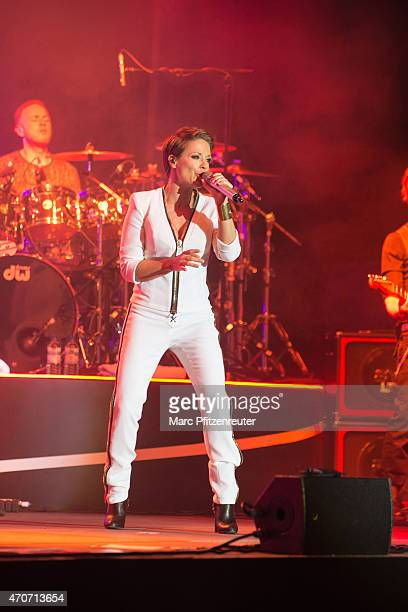German singer Michelle performs on stage at the Palladium on April 22 2015 in Cologne Germany
