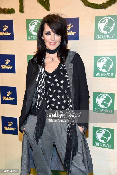 German singer Nena attends the Tchibo 'Ready for the Green Carpet' Fashion Show on March 8 2017 in Hamburg Germany