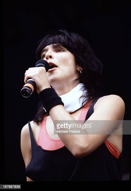 German singer Nena performing with her band of the same name at Werchterpark Werchter Belgium 10th June 1983