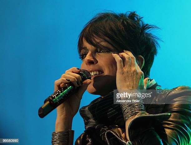 German singer Nena performs during a concert at the fourth day of the 2nd ecumenical Kirchentag on May 15 2010 in Munich Germany
