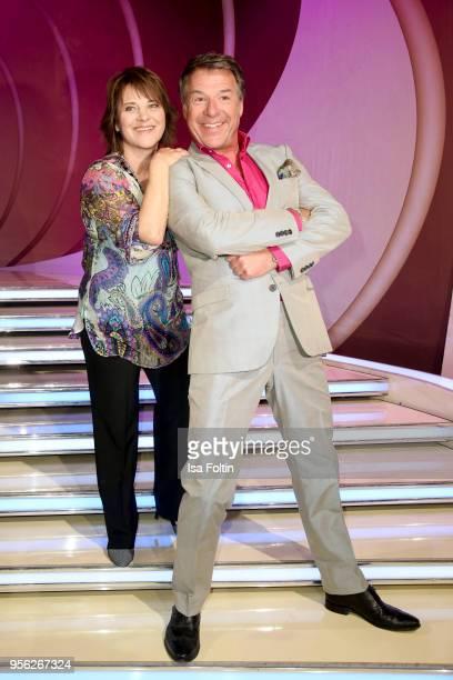 German singer Nicki and German singer Patrick Lindner during the tv show 'Stefanie Hertel Die grosse Show zum Muttertag' on May 8 2018 in Altenberg...