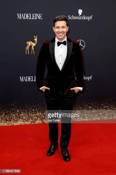 German singer Nico Santos arrives for the 71st Bambi Awards at Festspielhaus Baden-Baden on November 16, 2019 in Baden-Baden, Germany.