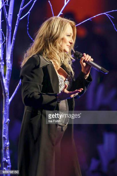 German singer Nicole during the tv show 'Heimlich Die grosse SchlagerUeberraschung' on March 17 2018 in Munich Germany