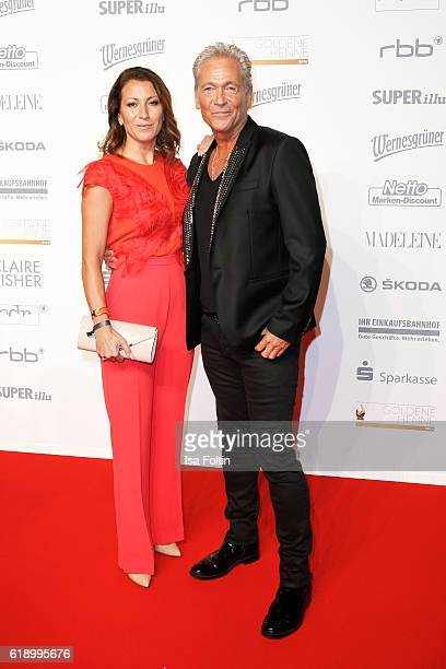 German singer Olaf Berger and his wife Andra Berger attend the Goldene Henne on October 28 2016 in Leipzig Germany