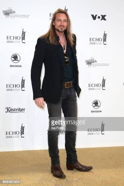 German singer Oliver Thomas arrives for the Echo Award at Messe Berlin on April 12 2018 in Berlin Germany