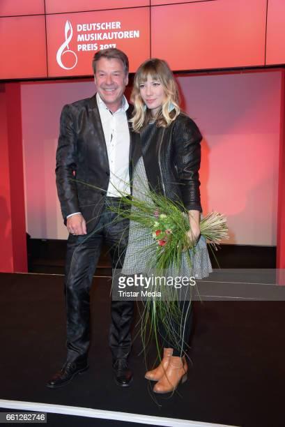 German singer Patrick Lindnder and Maria Mummert alias Mieze Katz during the 9th GEMA Musikautorenpreis at Ritz Carlton on March 30 2017 in Berlin...
