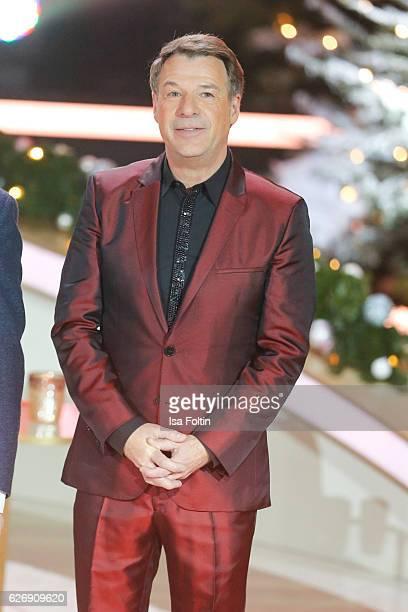German singer Patrick Lindner attends the tv show 'Die schoensten Weihnachtshits' on November 30 2016 in Munich Germany