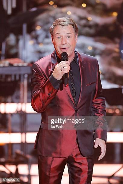 German singer Patrick Lindner performs at the tv show 'Die schoensten Weihnachtshits' on November 30 2016 in Munich Germany