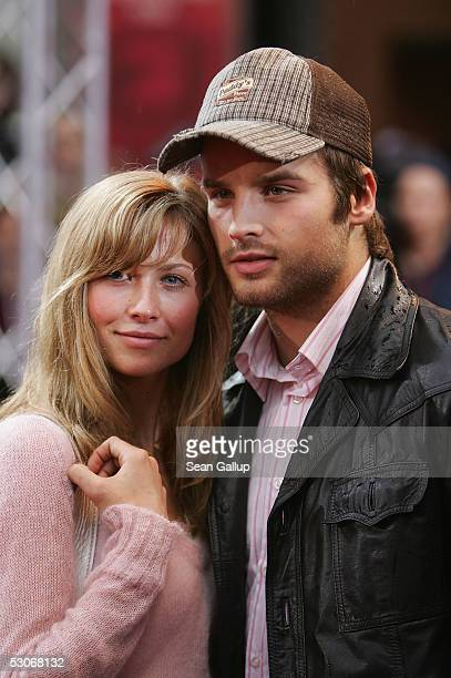 German singer Patrick Nuo and girlfriend actress Molly Schade arrive for the German premiere of War of the Worlds at the Theater am Potsdamer Plaz...