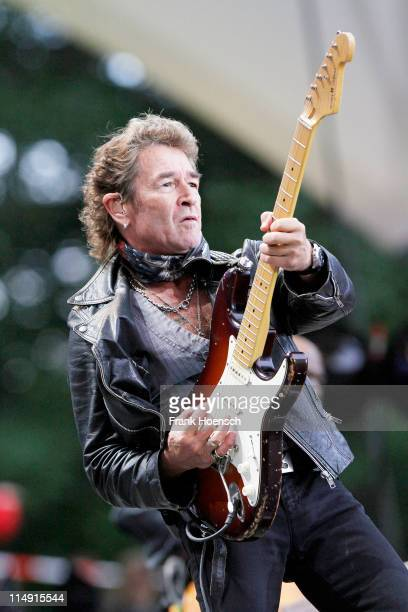 German singer Peter Maffay performs live during a concert at the Waldbuehne on May 28 2011 in Berlin Germany