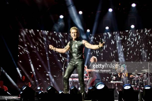 German singer Peter Maffay performs live on stage during a press call at the Columbiahalle on August 28 2019 in Berlin Germany