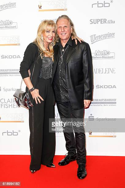 German singer Petra Zieger and her husband Peter Taudte attend the Goldene Henne on October 28 2016 in Leipzig Germany