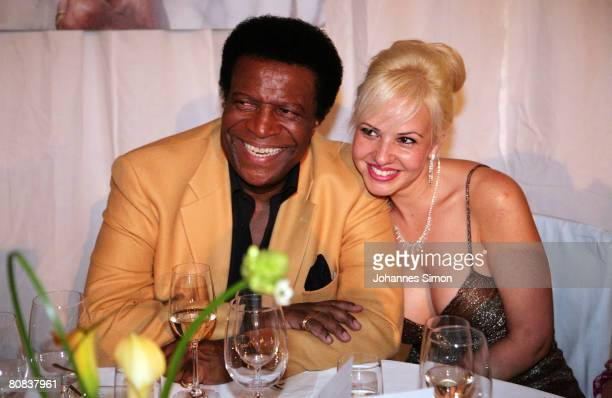 German singer Roberto Blanco and his girlfriend Sandra attend the after show party after the TVshow Congratulations Karlheinz Boehm A Life For Africa...