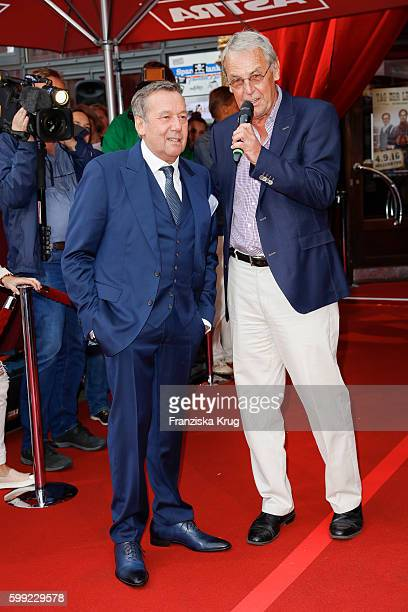 German singer Roland Kaiser and german moderator Joerg Wontorra attend the 'Nacht der Legenden' at Schmidts Tivoli on September 04 2016 in Hamburg...