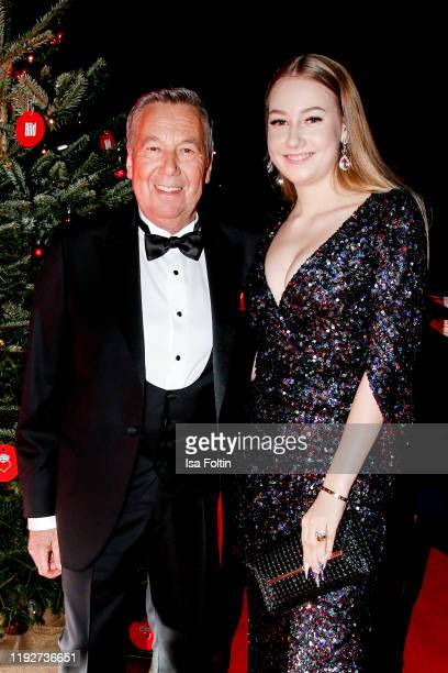 German singer Roland Kaiser and his daugther Annalena Kaiser during the Daimlers BE A MOVER event at Ein Herz Fuer Kinder Gala at Studio Berlin...