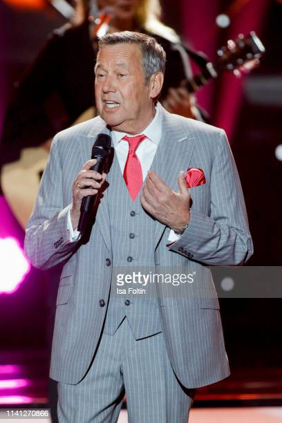 German singer Roland Kaiser during the television show 'Willkommen bei Carmen Nebel' at Velodrom on May 4, 2019 in Berlin, Germany.