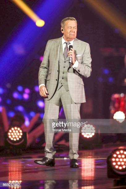 German singer Roland Kaiser performs at 'Schlagerboom Das Internationale Schlagerfest' at Westfalenhalle on October 21 2017 in Dortmund Germany