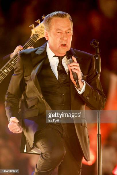 German singer Roland Kaiser performs at the 'Schlagerchampions Das grosse Fest der Besten' TV Show at Velodrom on January 13 2018 in Berlin Germany