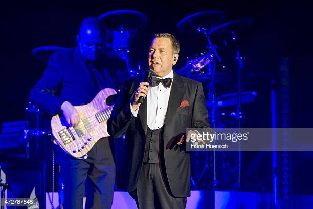 German singer Roland Kaiser performs live during a concert at the O2 World on May 9 2015 in Berlin Germany