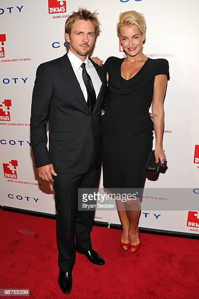 German singer Sarah Connor and her manager and partner Florian Fischer attend DKMS' 4th Annual Gala Linked Against Leukemia at Cipriani 42nd Street...