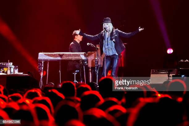 German singer Sarah Connor performs live during a concert at the MercedesBenz Arena on March 18 2017 in Berlin Germany