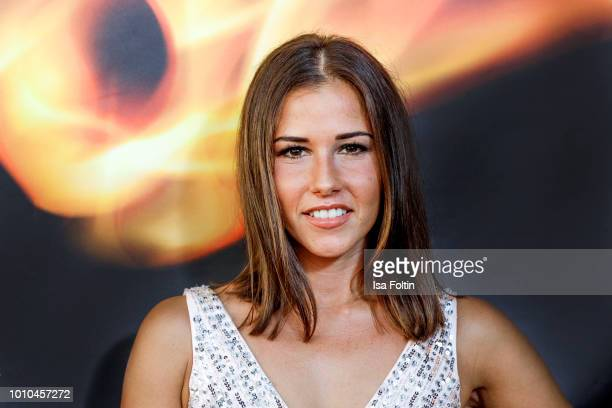 German singer Sarah Lombardi attends the Remus Lifestyle Night on August 2 2018 in Palma de Mallorca Spain