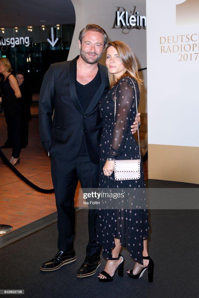 German singer Sasha and his wife Julia Roentgen attend the 'Deutscher Radiopreis' (German Radio Award) at Elbphilharmonie on September 7, 2017 in Hamburg, Germany.