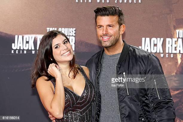 German singer Tanja Tischewitsch and german singer Jay Khan attend the 'Jack Reacher Never Go Back' Berlin Premiere at CineStar Sony Center Potsdamer...