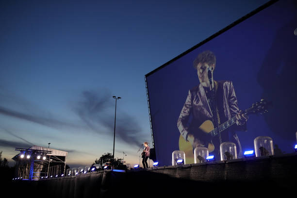DEU: Tim Kamrad Performs At Drive-In Autokino Dusseldorf