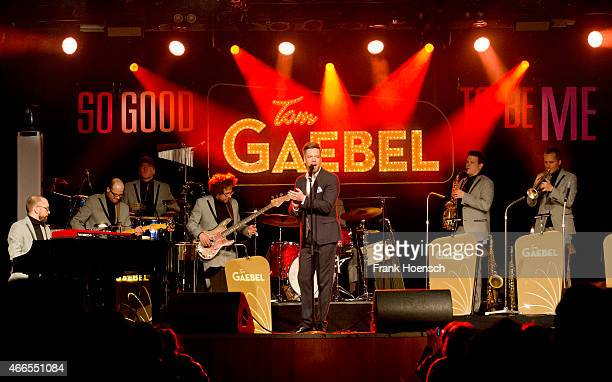 German singer Tom Gaebel performs live during a concert at the Astra on March 15 2015 in Berlin Germany