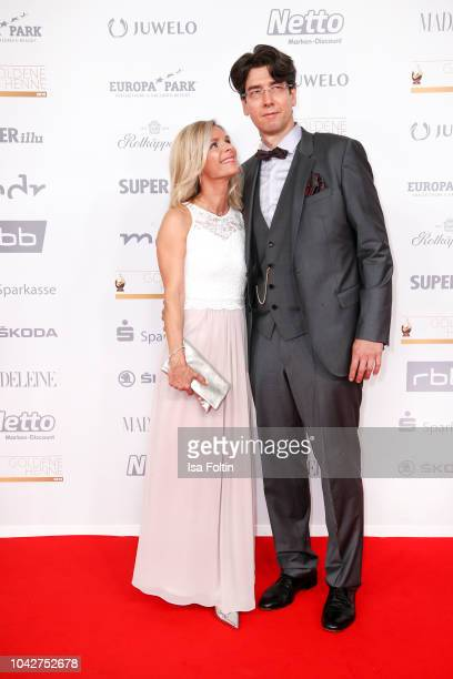German singer Uta Bresan and her husband Karsten Freund during the Goldene Henne on September 28, 2018 in Leipzig, Germany.