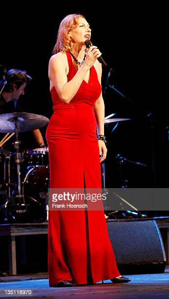 German singer Ute Lemper performs live during a concert at the Admiralspalast on December 6 2011 in Berlin Germany