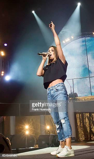 German singer Vanessa Mai performs live during 'Die Schlagernacht des Jahres' at the MercedesBenz Arena on November 19 2016 in Berlin Germany