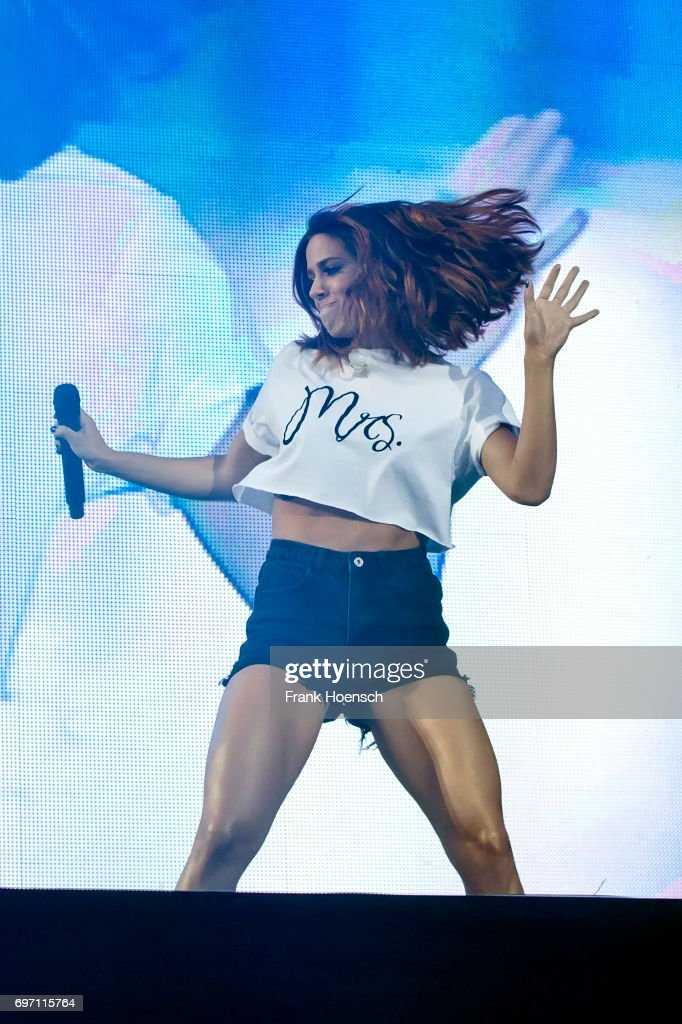 German singer Vanessa Mai performs live during the show 'Die Schlagernacht des Jahres' at the Waldbuehne on June 17, 2017 in Berlin, Germany.