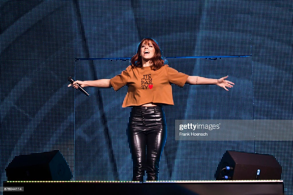 German singer Vanessa Mai performs live during the show 'Die Schlagernacht des Jahres' at the Mercedes-Benz Arena on November 18, 2017 in Berlin, Germany.