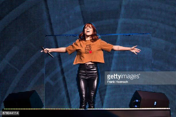 German singer Vanessa Mai performs live during the show 'Die Schlagernacht des Jahres' at the MercedesBenz Arena on November 18 2017 in Berlin Germany