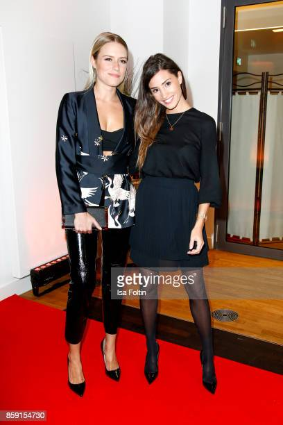 German singer Vanessa Meisinger and German actress Nadine Menz attend the German Boxing Awards 2017 on October 8 2017 in Hamburg Germany