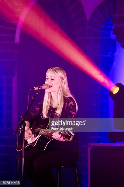 German singer Vanessa von der Forst aka Van de Forst performs live in supportt of Frontm3n during a concert at the Passionskirche on January 31 2016...
