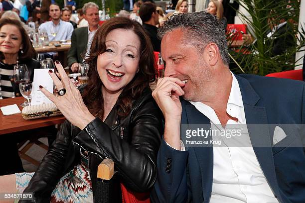 German singer Vicky Leandros and Patrick von FaberCastell during the 'Ein Herz fuer Kinder' summer party at Wannseeterrassen on May 26 2016 in Berlin...